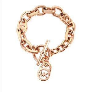 Michael Kors rose gold Monogram Bracelet